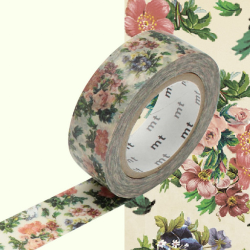 MT Masking Tape Mini Flower Botanical Art (4 uds)