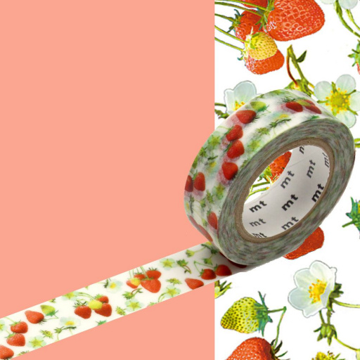 MT Masking Tape Strawberry (4 uds)