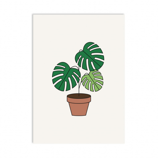 Postal La Monstera (5 uds)