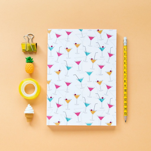 Cuaderno «Cocktail» (5 ud)