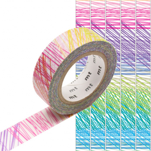 MT Masking Tape Scribble (4 uds)