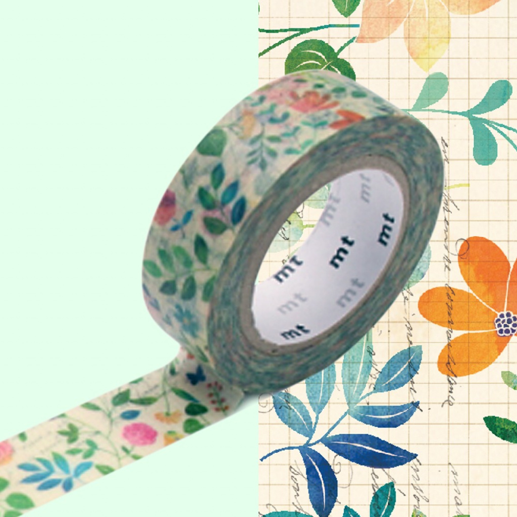 MT Masking Tape Water Color Flower (4 uds)