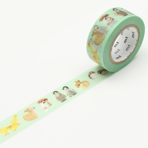 MT Masking Tape Ex Baby Animals (3 uds)