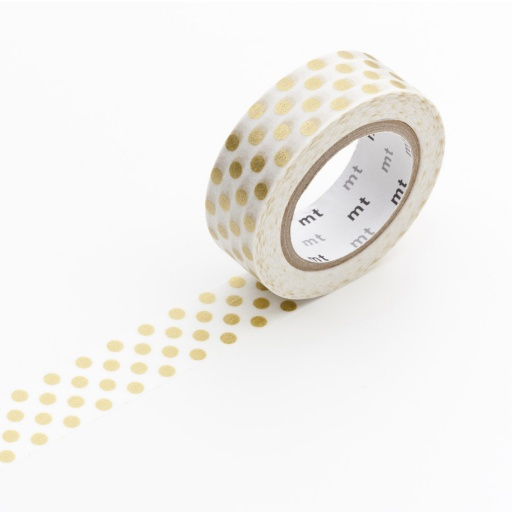 MT Masking Tape Dot Gold (4 uds)