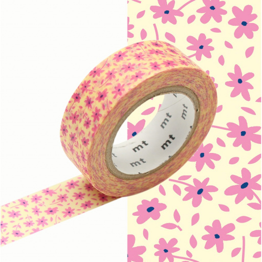 MT Masking Tape Pink Flower (4 uds)