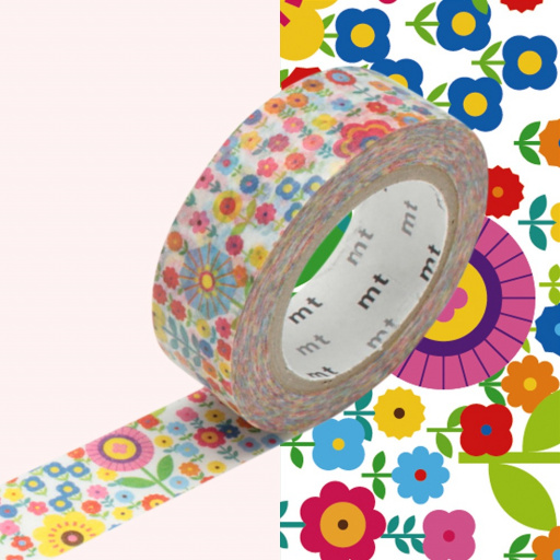 MT Masking Tape Mini Flower Garden (4 uds)