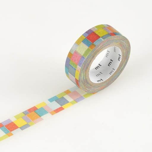 MT Masking Tape Mosaic Bright (4 uds)