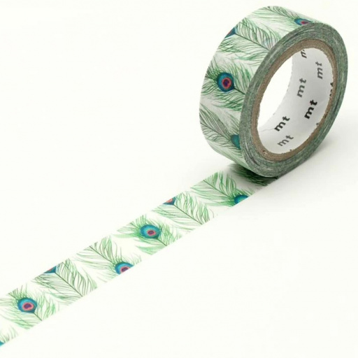 MT Masking Tape Peacock Feathers (4 uds.)